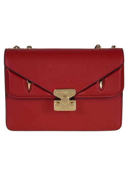 Fendi Bag Bug Small Shoulder Bag in red