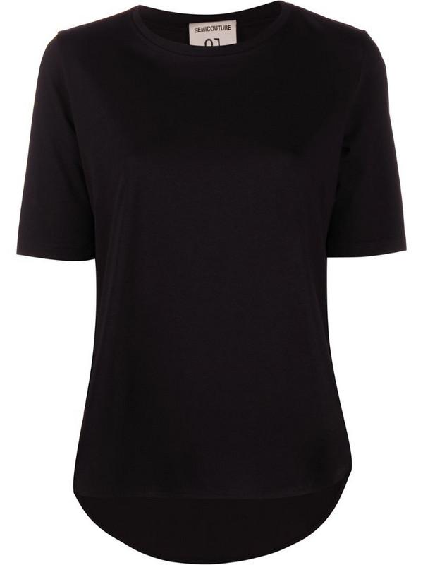 Semicouture Violette logo T-shirt in black