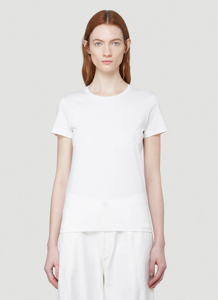 Moncler Logo T-Shirt in White size XS