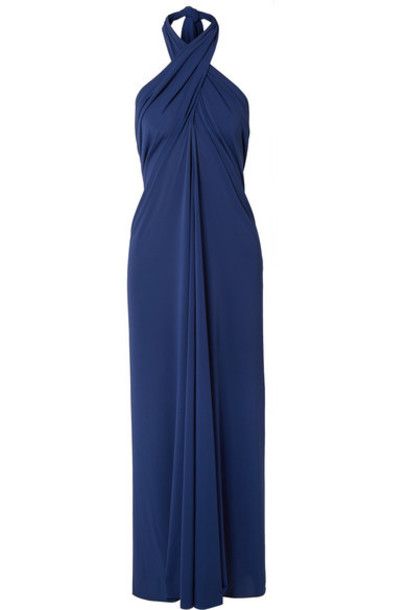 Eres - Caro Convertible Stretch-jersey Halterneck Midi Dress - Royal blue
