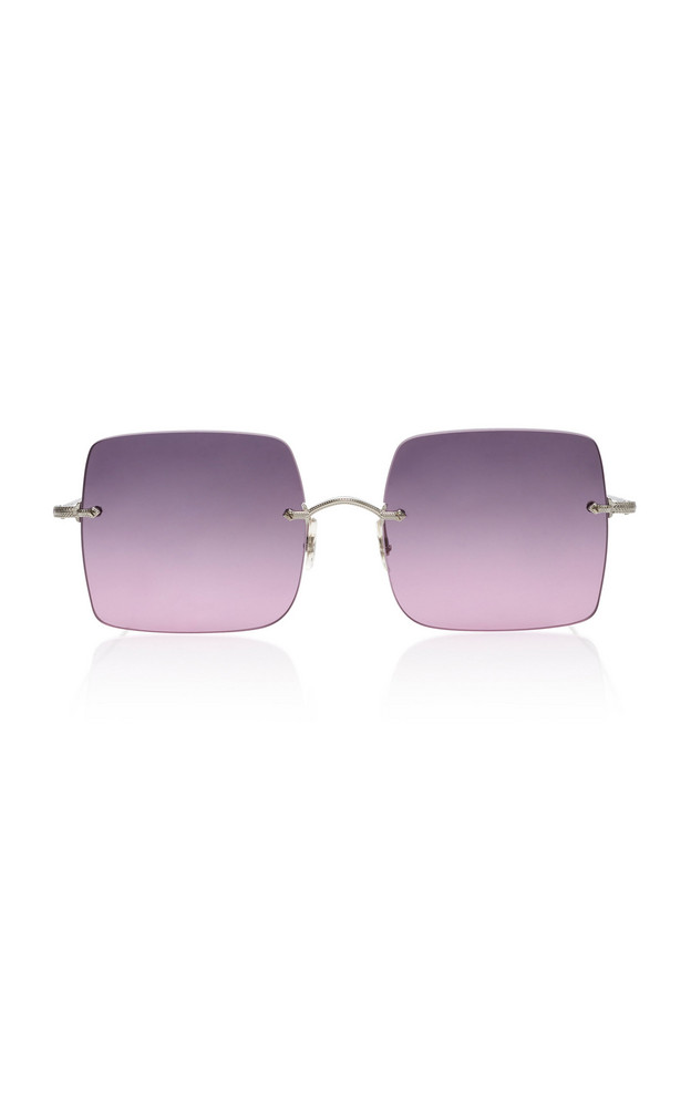 Oliver Peoples Oishe Oversized Rimless Sunglasses in purple