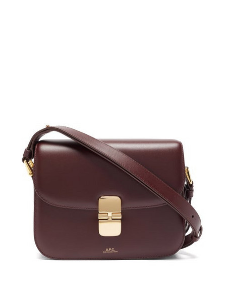 A.P.C. A.P.C. - Grace Large Smooth-leather Cross-body Bag - Womens - Burgundy