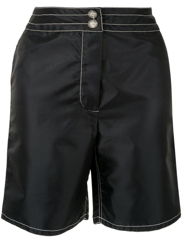 Chanel Pre-Owned CC logo shorts in black
