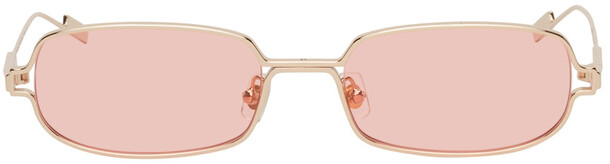 BONNIE CLYDE Gold & Pink Petrichor Sunglasses