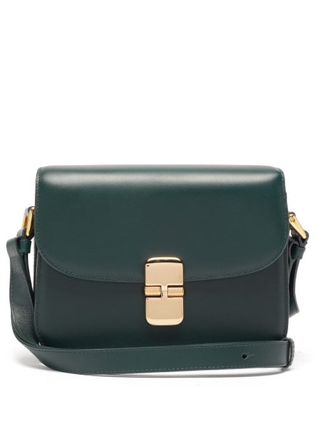 A.P.C. A.P.C. - Grace Small Smooth-leather Cross-body Bag - Womens - Dark Green