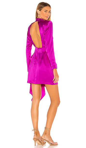 Amanda Uprichard x REVOLVE Yasmine Knot Dress in Fuchsia