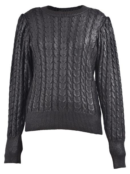 MSGM Lame Sweater in black