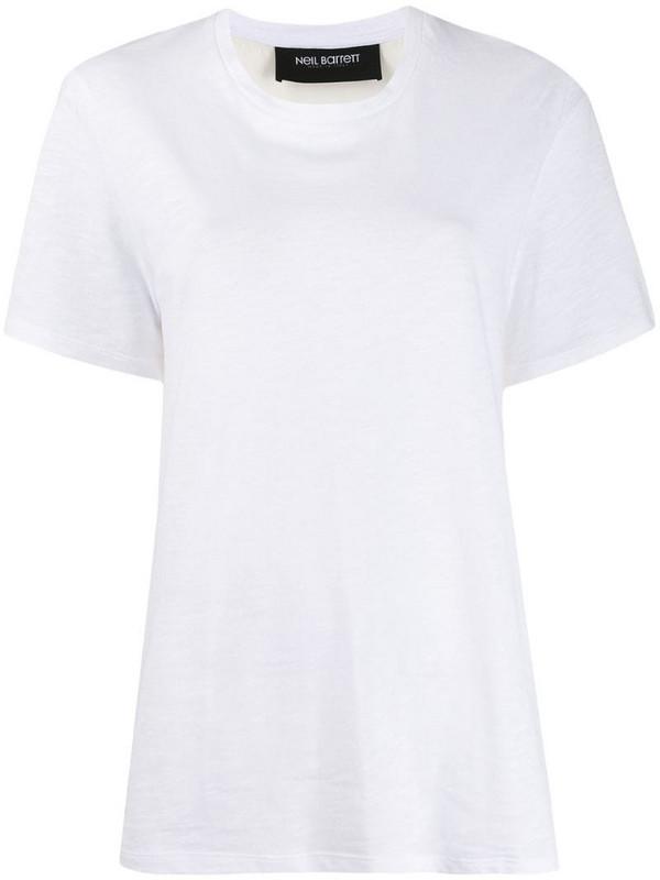Neil Barrett panelled T-shirt in white