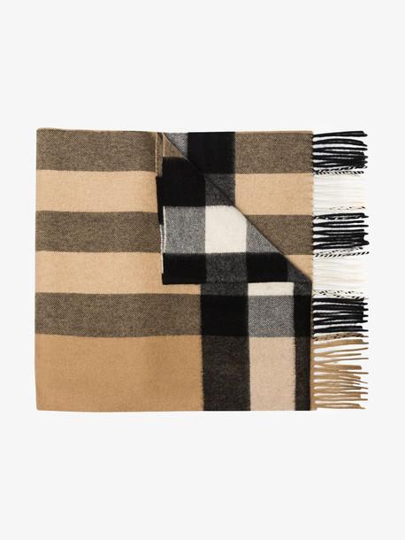 Burberry brown mega check cashmere scarf