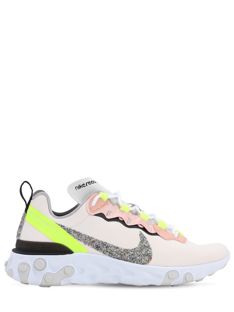 NIKE React Element 55 Sneakers in pink