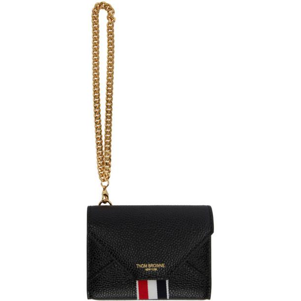 Thom Browne Black Short Envelope Chain Wallet