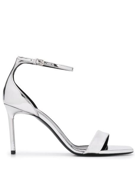 Saint Laurent Amber sandals in silver