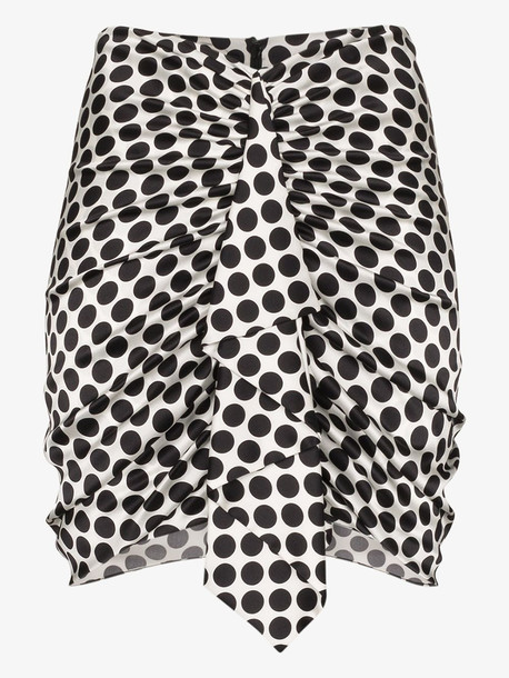 Alexandre Vauthier ruffle printed mini skirt in white