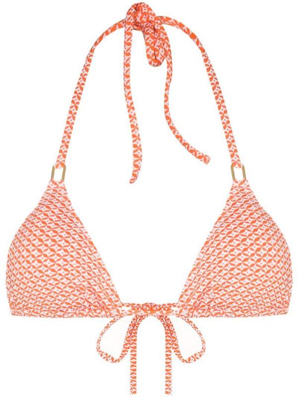 Melissa Odabash Cancun-print bikini top in orange