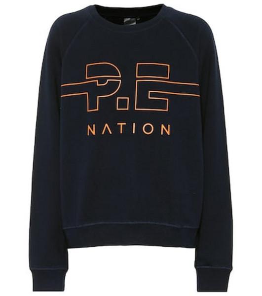 P.E Nation Swingman cotton sweatshirt in blue