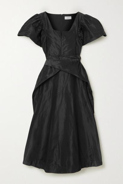 Preen by Thornton Bregazzi - Jayda Silk-taffeta Midi Dress - Black