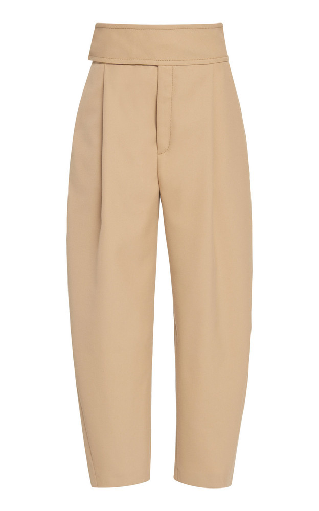 Toteme Lombardy Cropped Stretch-Twill Pants in neutral