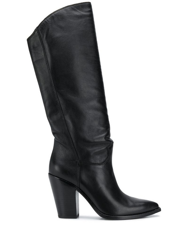 Ash Brandon stitched high boots in black