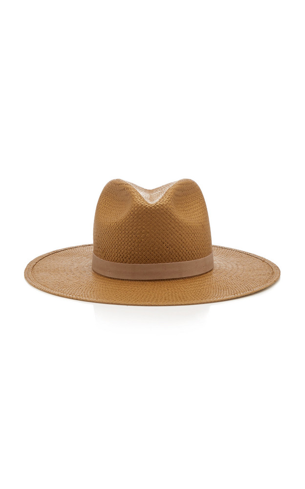 Janessa Leone Adriana Packable Straw Hat in brown
