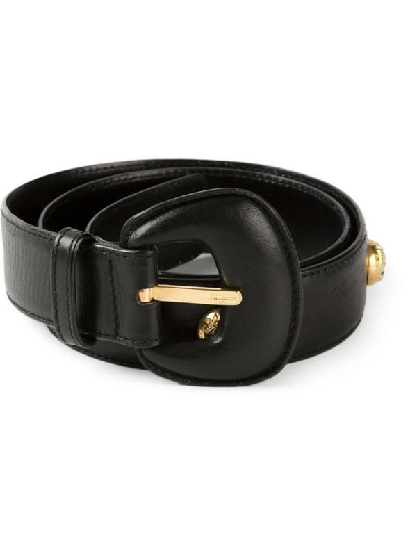 Salvatore Ferragamo Pre-Owned 1980's classic belt in black