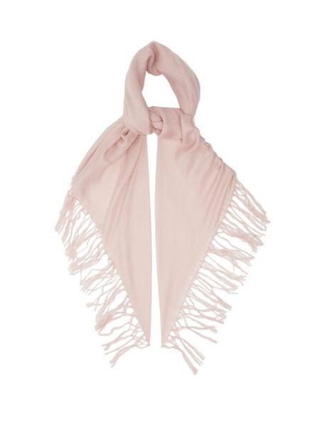 Brunello Cucinelli - Lightweight Tasselled Cashmere-blend Scarf - Womens - Light Pink