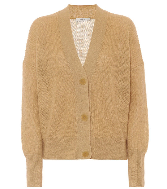 Vince Ribbed-knit cardigan in beige