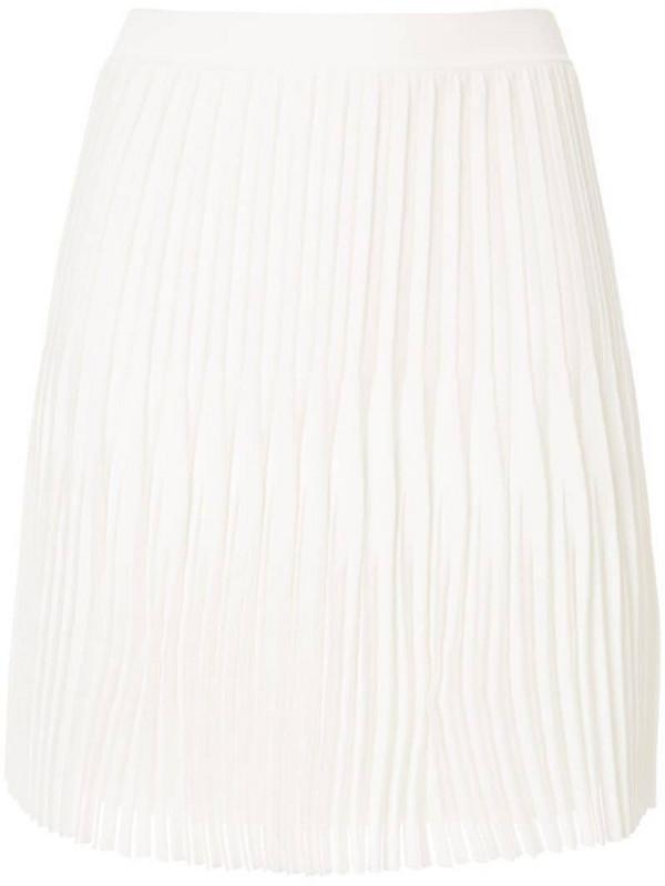Dion Lee godet pleat mini skirt in white
