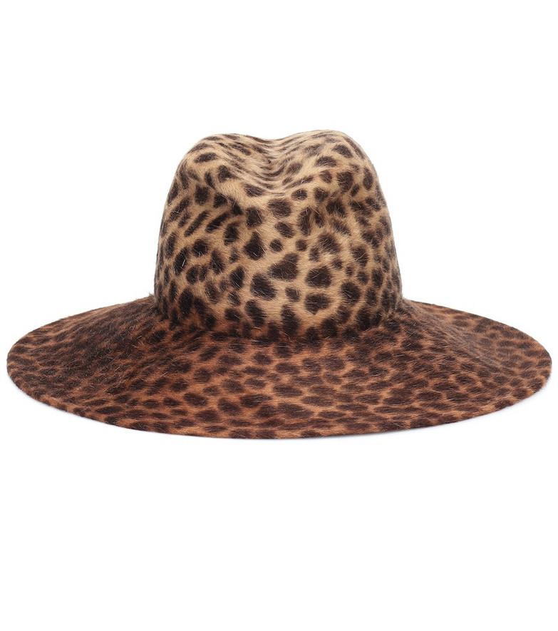 Lola Hats Exclusive to Mytheresa – Biba leopard-print felt hat in beige