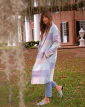 coat,pastel,blogger,celebrity,rocky barnes,instagram,spring outfits