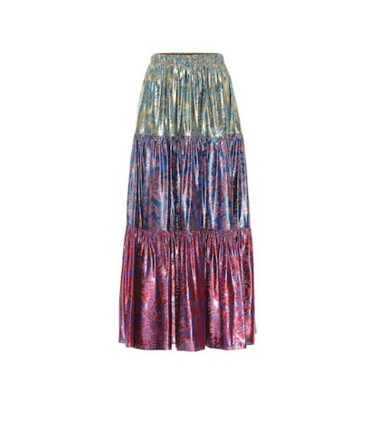 Gucci Silk-blend jacquard skirt