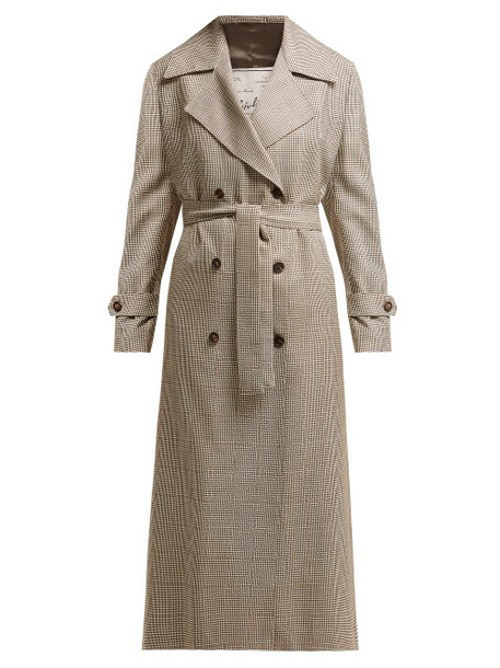 Giuliva Heritage Collection - The Christie Lana Double Breasted Wool Trench Coat - Womens - Brown