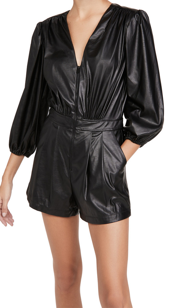 Ramy Brook Ines Romper in black