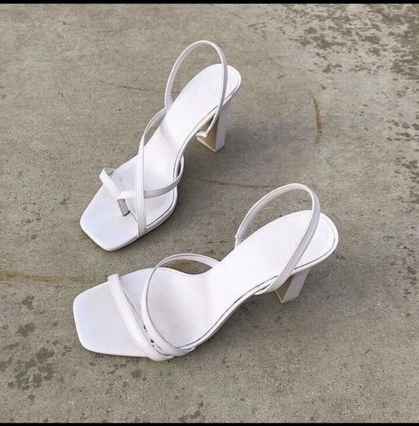 shoes white heels pumps strappy wedding shoes wedding prom prom shoes sandals high heel sandals