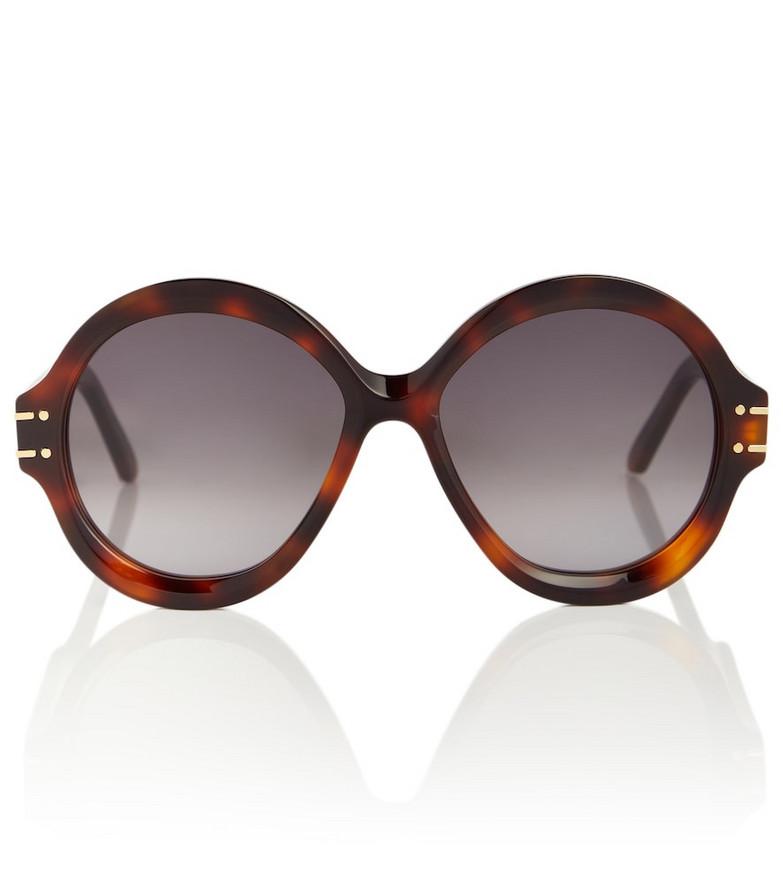 Dior Eyewear DiorSignature R1U round sunglasses in brown