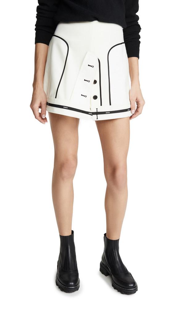 Monse Inverted Miniskirt in ivory