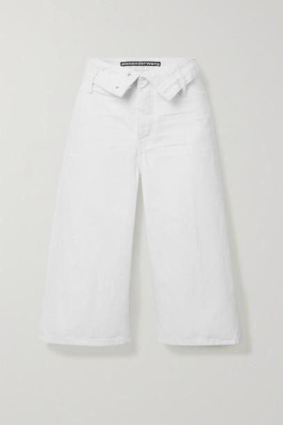 Alexander Wang - Scout Flip Fold-over Denim Shorts - White