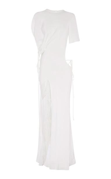 Christopher Esber Ruched Void Venus Dress in white