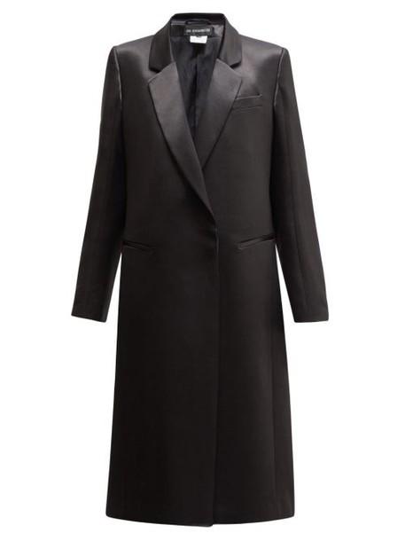 Ann Demeulemeester - Satin Shine Overcoat - Womens - Black