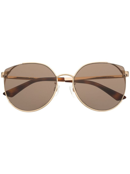 MCQ round frame tinted sunglasses in gold
