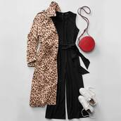 coat,beige coat,leopard coat,trench coat