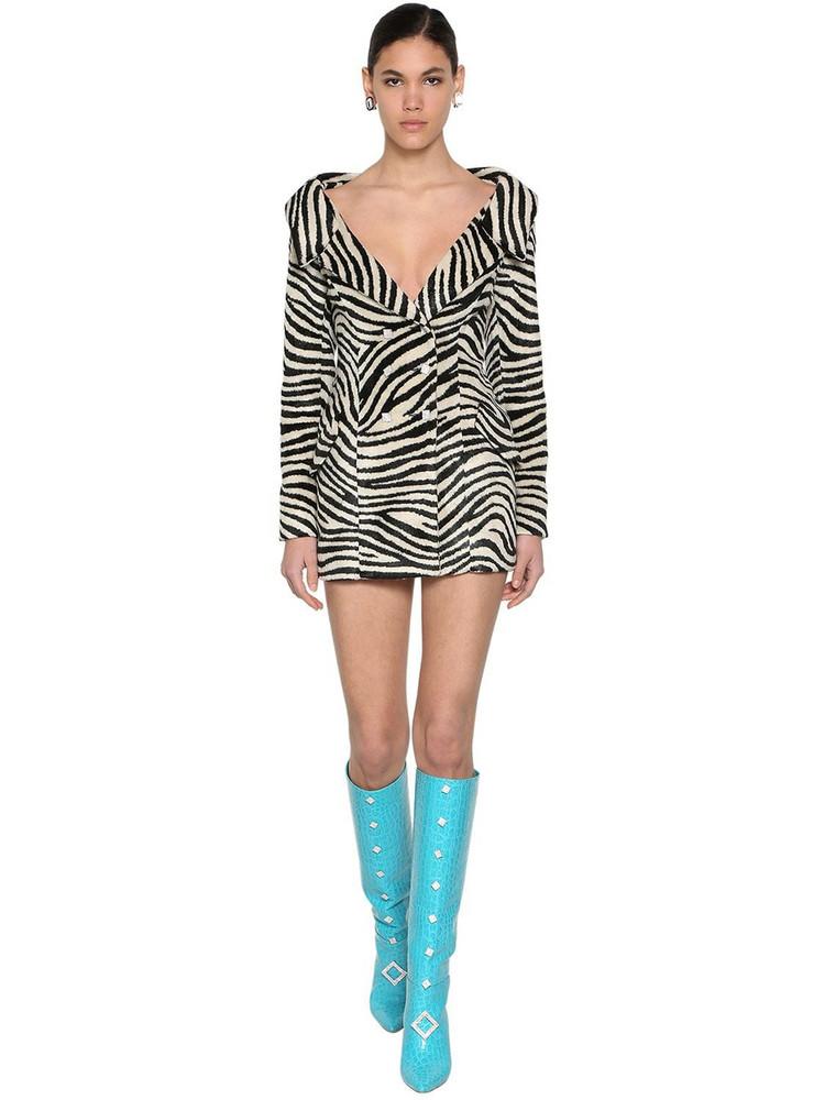 GIUSEPPE DI MORABITO Zebra Print Jacket Dress in black / white