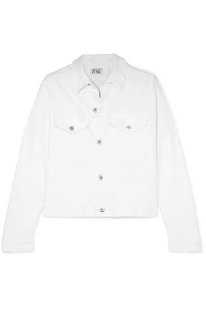 EVE Denim - Kaila Cropped Denim Jacket - White
