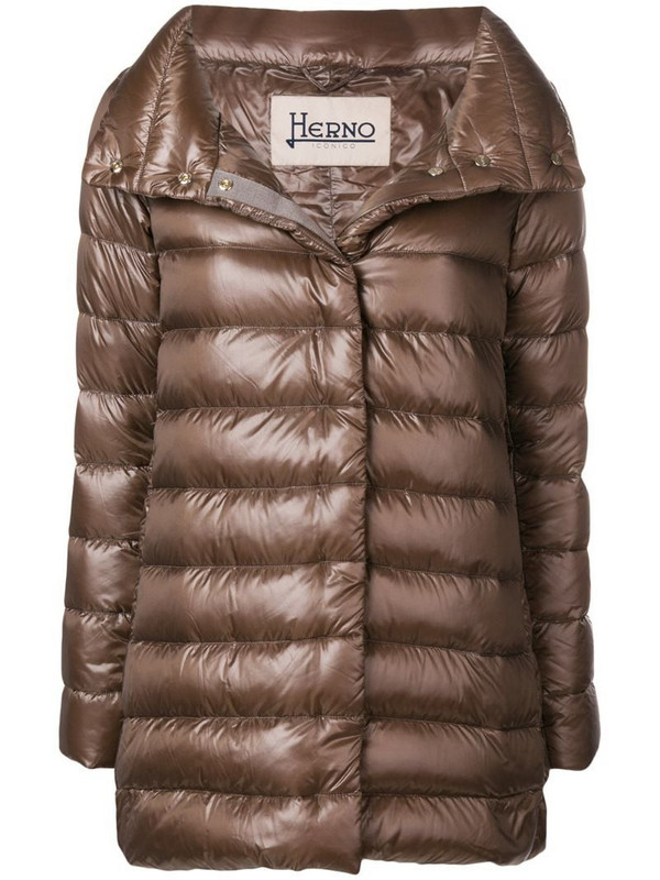 Herno padded coat in neutrals