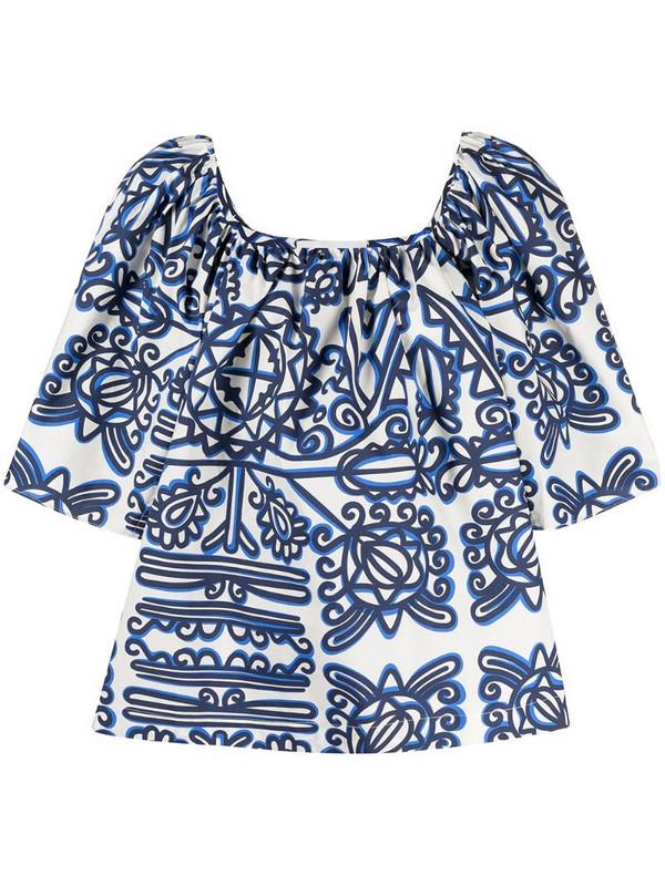 La Doublej Rapunzel blouse in blue