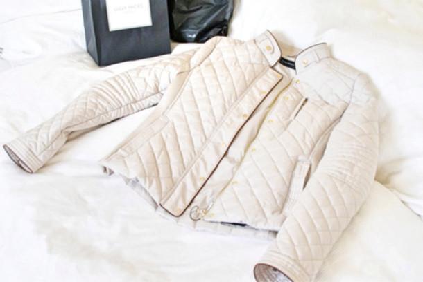 jacket beige white