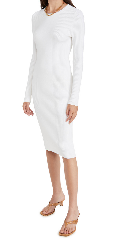 Victor Glemaud Knit Dress in white