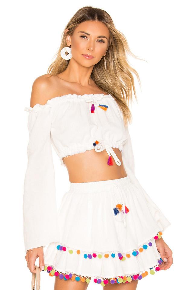 MAJORELLE Calypso Top in white