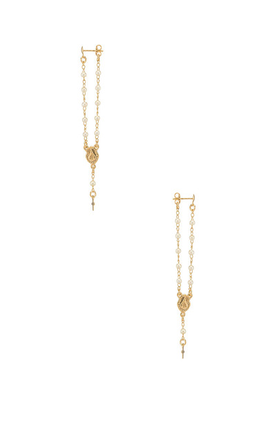 joolz by Martha Calvo Rosary Earrings in gold / metallic