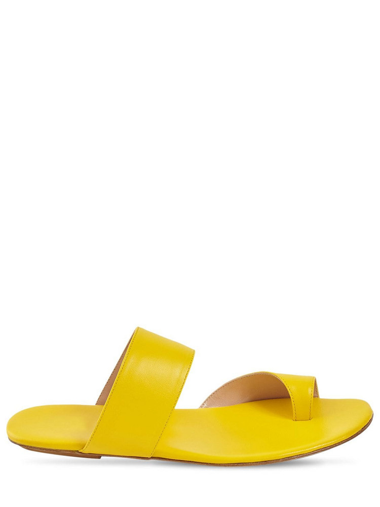 GIA COUTURE 10mm Zefiro Leather Thong Sandals in yellow