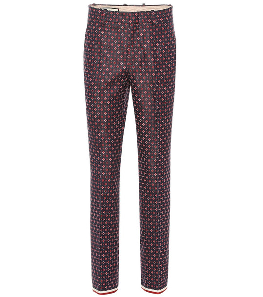 Gucci Geometric G cotton-blend pants
